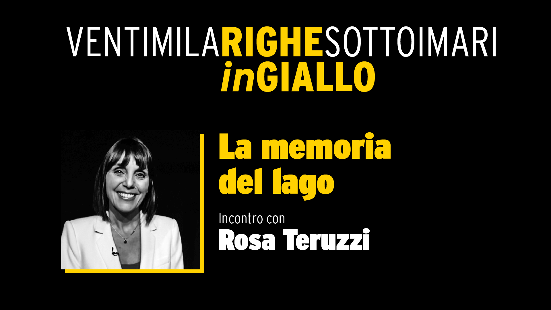 La memoria del lago - Video Integrale